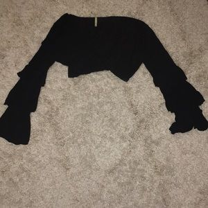 LF Tiered Sleeve Crop Top